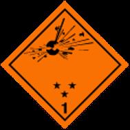 Explosive materials (Class 1)