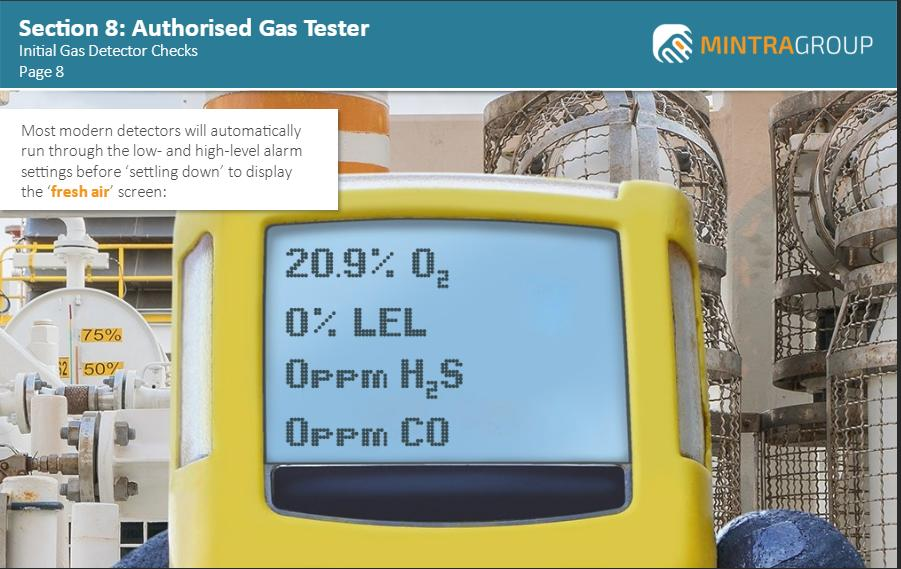 Authorised Gas Tester OPITO Approved Training 4
