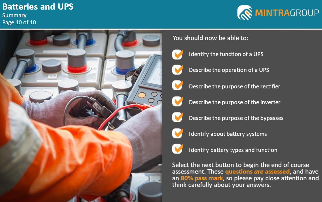 Batteries and UPS Training