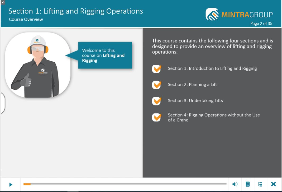 Lifting and Rigging Operations Training 2