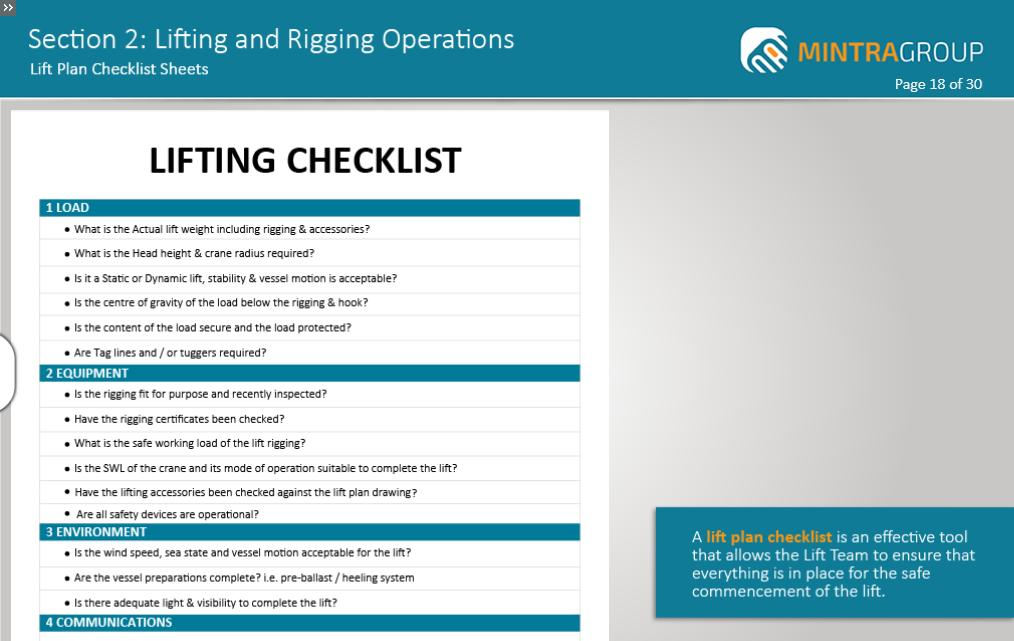 Lifting and Rigging Operations Training 3