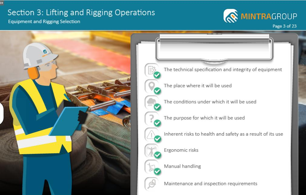 Lifting and Rigging Operations Training 4