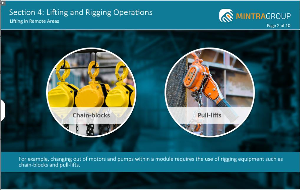 Lifting and Rigging Operations Training 5