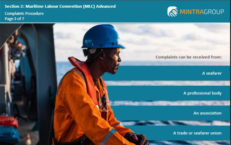 Maritime Labour Convention MLC Advanced Training 3