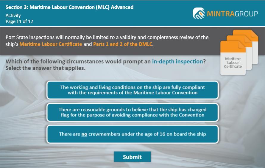 Maritime Labour Convention MLC Advanced Training 5