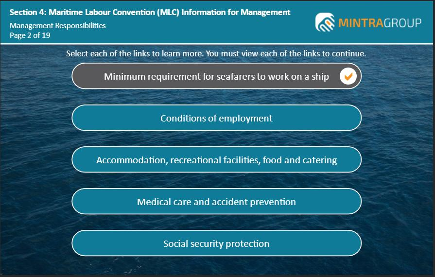Maritime Labour Convention MLC Information for Management Training 5