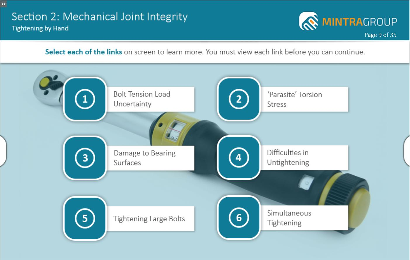 Mechanical Joint Integrity Training 3