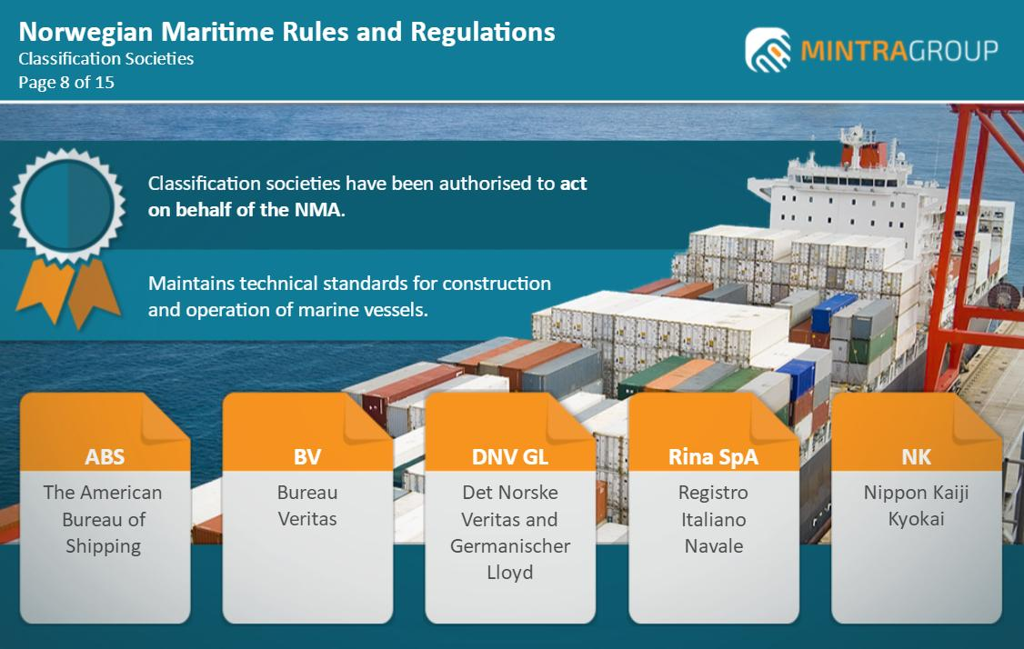 Norwegian Maritime Rules and Regulations (STCW 1/10.2) Training