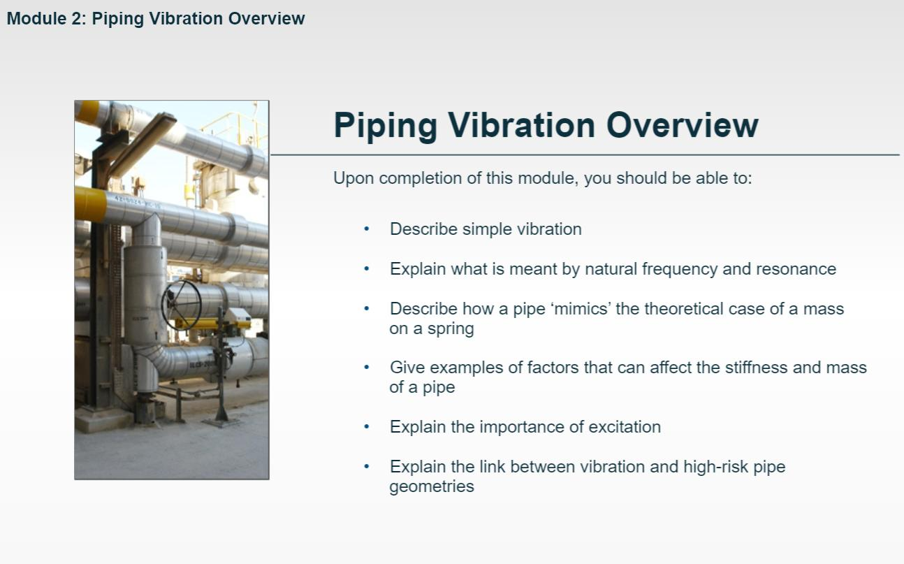Piping Vibration Training