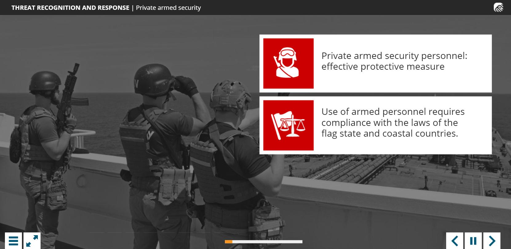 Piracy and Armed Robbery Training 4