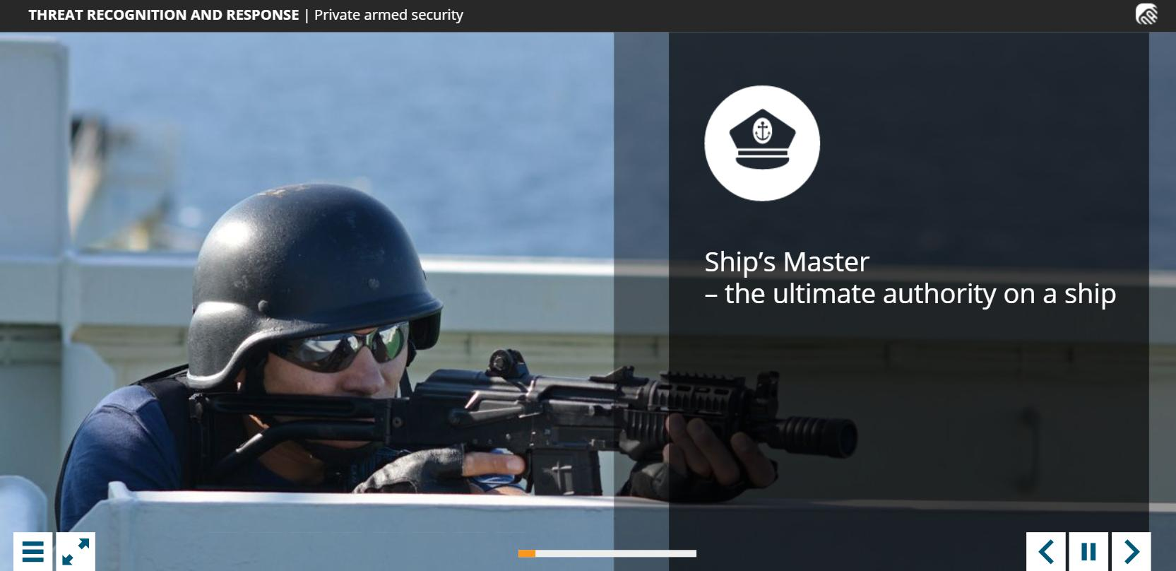 Piracy and Armed Robbery Training 5