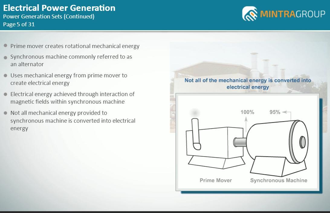 Power Generation (Electrical) Training