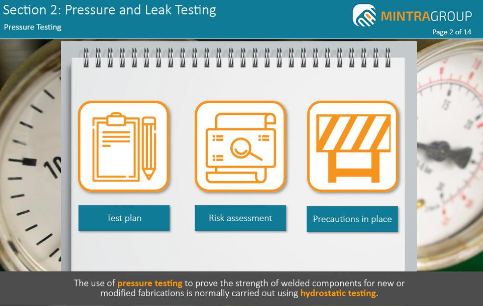 Pressure and Leak Testing Training 3