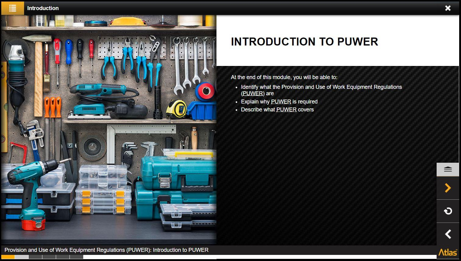 Provision and Use of Work Equipment Regulations PUWER Training 2