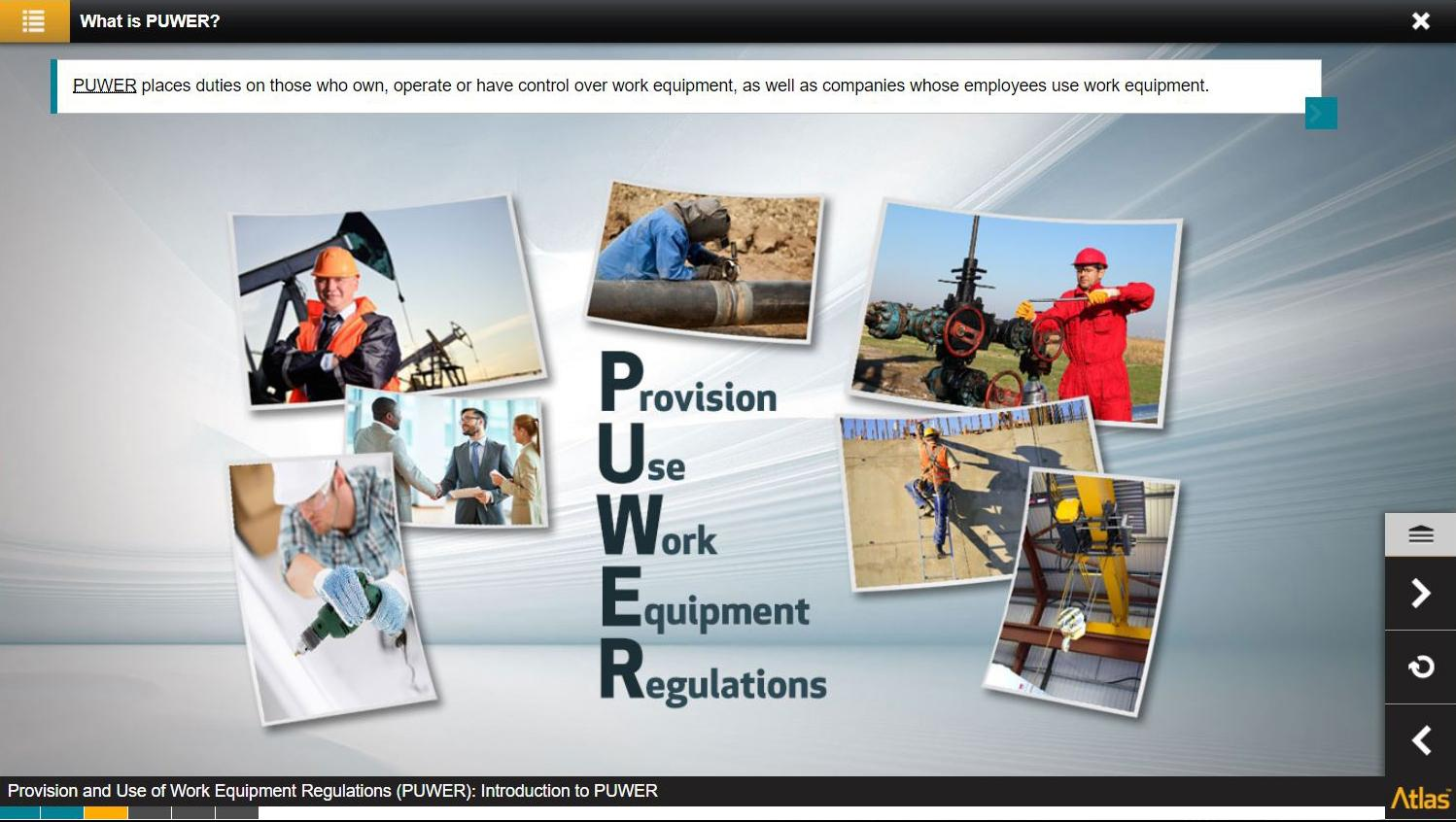 Provision and Use of Work Equipment Regulations PUWER Training 4