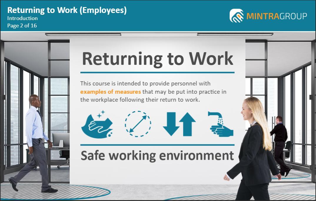 Returning to Work Employees Training 2