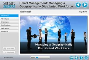 Smart Management Managing a Geographically Distributed Workforce Training 2