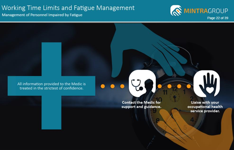 Working Time Limits and Fatigue Management Training